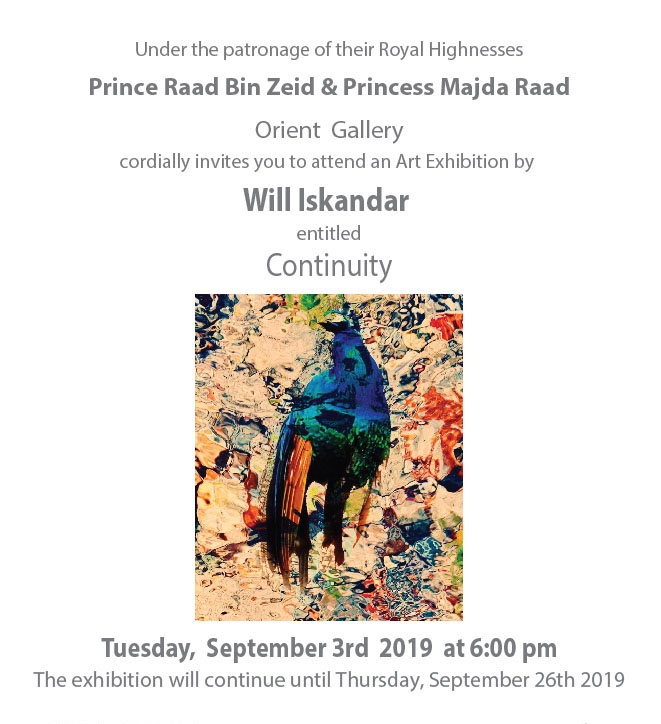 "Current Exhibition : Current Exhibition  : Art Exhibition By Will Iskandar ""Continuity"" September 3rd - 26th 2019"
